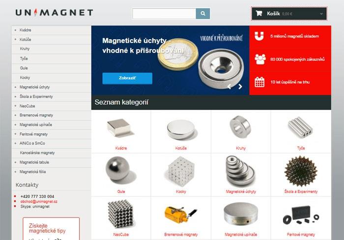 Kde kúpiť silné magnety - eshop Unimagnet