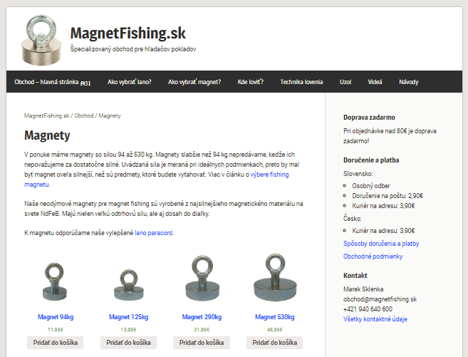 MagnetFishing.sk - predaj magnetov pre magnetic fishing