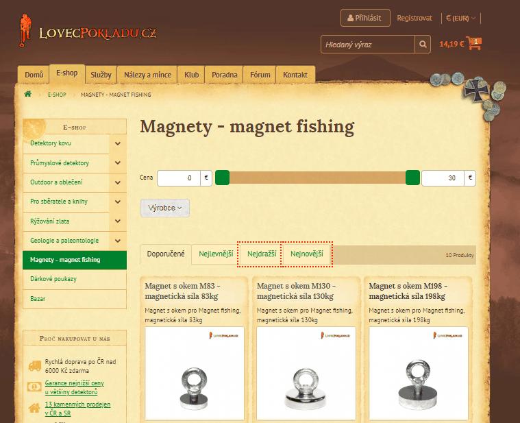 Predaj magnetov pre lovcov pokladov na lovecpokladu.cz