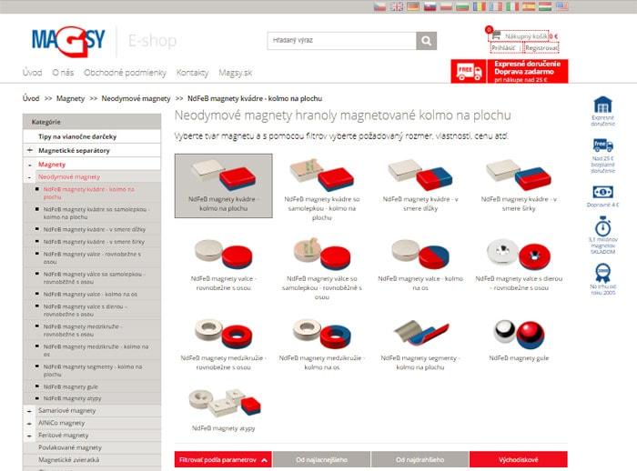 Kde kúpiť neodýmové magnety - internetový obchod MAGSY