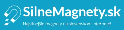 SilneMagnety.sk - logo e-shopu, kde sa dajú kúpiť neodýmové magnety